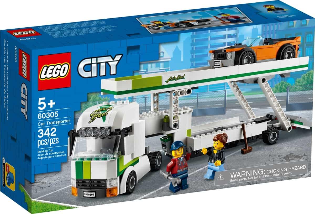 lego 60305 camion de transporte de coches