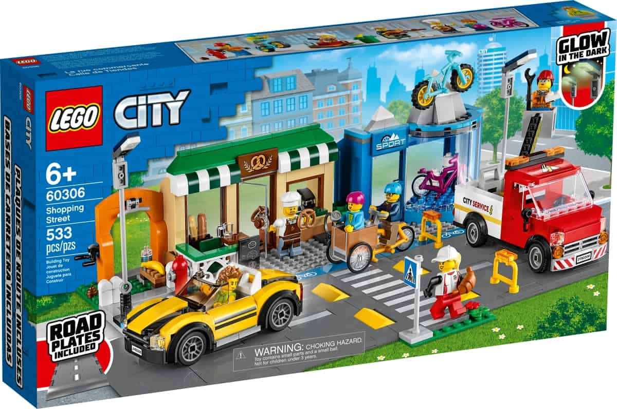 lego 60306 calle de tiendas