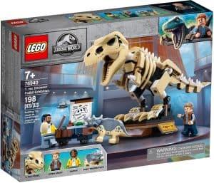 lego 76940 exposicion del dinosaurio t rex fosilizado
