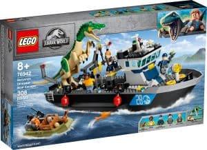 lego 76942 fuga del barco del dinosaurio baryonyx