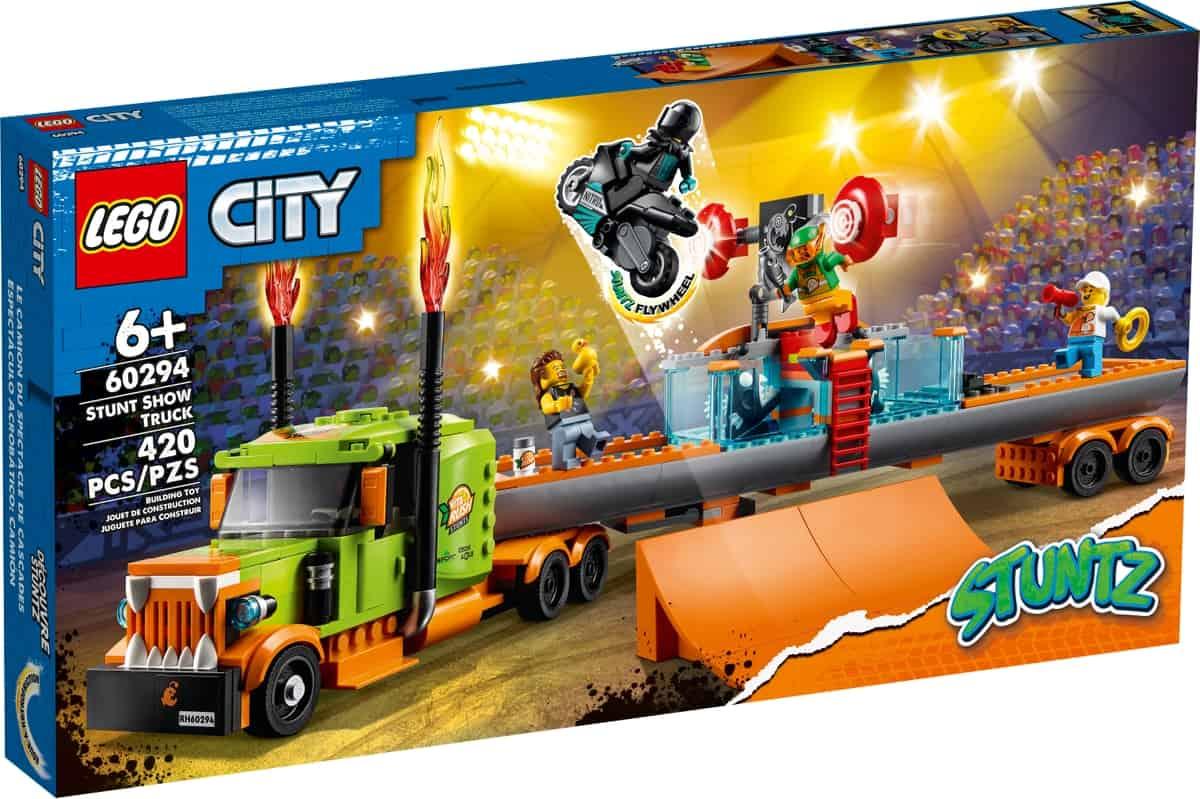 lego 60294 espectaculo acrobatico camion