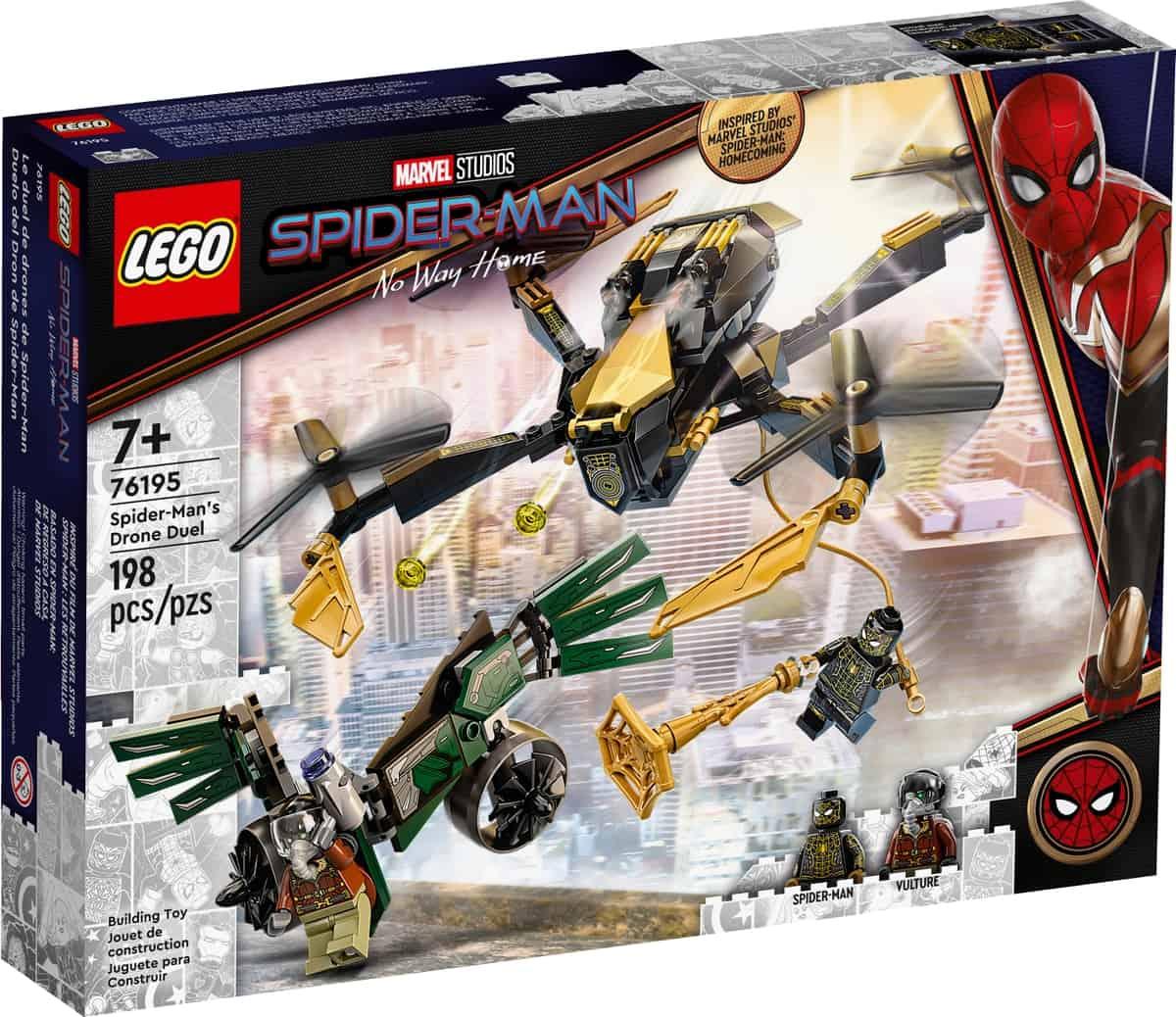 lego 76195 duelo del dron de spider man