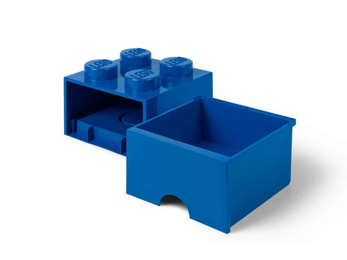 lego 5006130 ladrillo de almacenamiento azul de 4 espigas con cajon