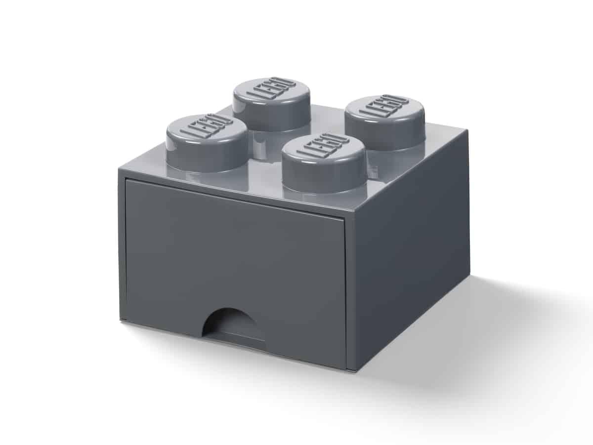 lego 5006328 ladrillo de 4 espigas con cajon gris oscuro