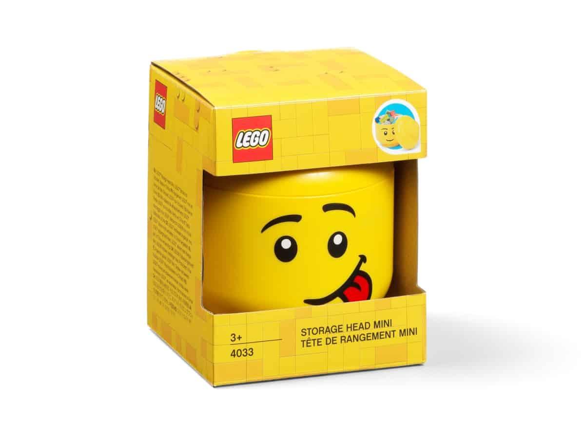 cabeza para almacenamiento lego 5006210 mini bromista