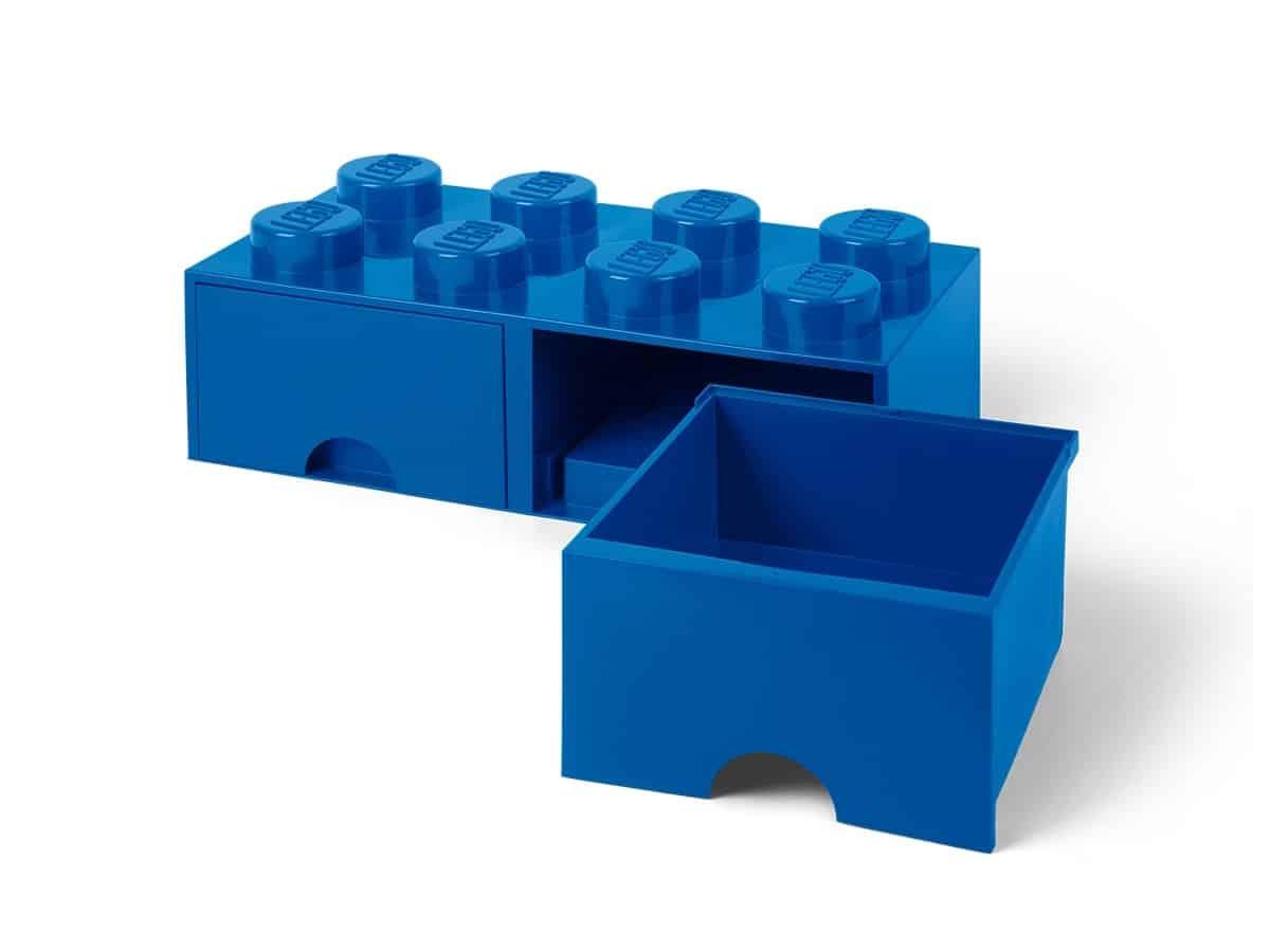 lego 5006143 ladrillo de almacenamiento azul de 8 espigas con cajones